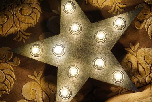 Освещение ручной работы. Ярмарка Мастеров - ручная работа. Купить Светильник звездочка  50 см бронза античная (Светящаяся звезда). Handmade.