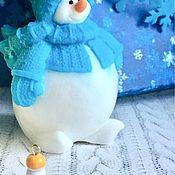 Косметика ручной работы. Ярмарка Мастеров - ручная работа сувенирное мыло «Снеговик пухлик». Handmade.