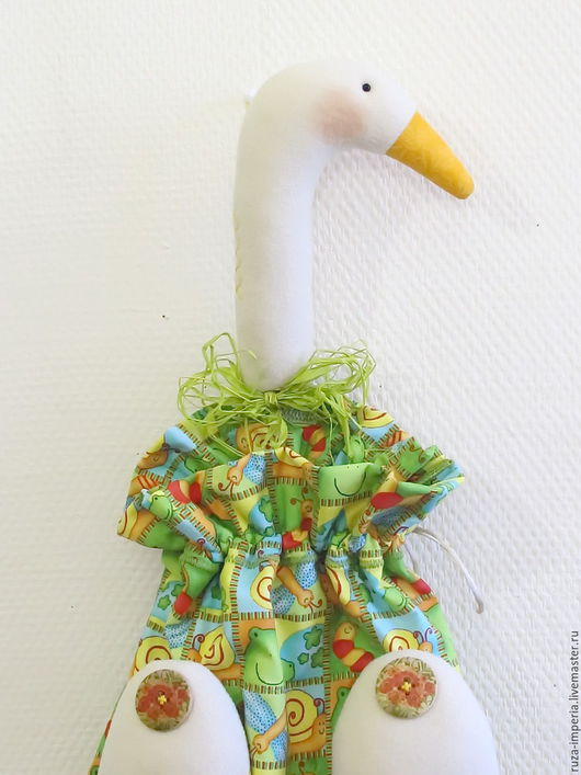 Куклы Тильды ручной работы. Ярмарка Мастеров - ручная работа. Купить Гусь-мешок (пакетница) Лето. Handmade. Гусь-пакетница