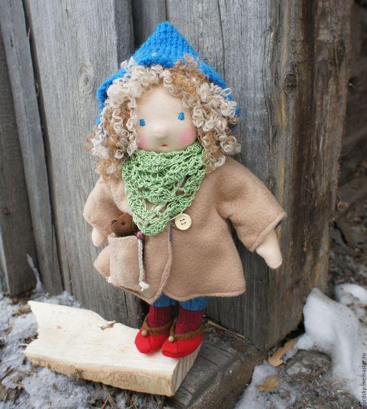 Вальдорфская игрушка ручной работы. Ярмарка Мастеров - ручная работа. Купить Кукла текстильная в вальдорфском стиле Динка. Handmade.