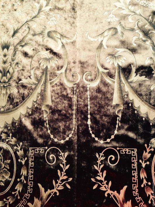 Шитье ручной работы. Ярмарка Мастеров - ручная работа. Купить Бархат для штор Шоколад. Handmade. Коричневый, ткань с рисунком