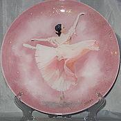 Тарелки ручной работы. Ярмарка Мастеров - ручная работа Тарелки: Балет 3 Декоративная тарелка. Handmade.