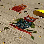"""Для дома и интерьера ручной работы. Ярмарка Мастеров - ручная работа Табурет """"Совята"""" на  удачу!. Handmade."""