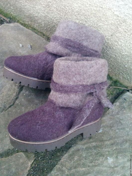 """Обувь ручной работы. Ярмарка Мастеров - ручная работа. Купить Валенки """" Просто Валенки"""". Handmade. Сиреневый, валяние"""
