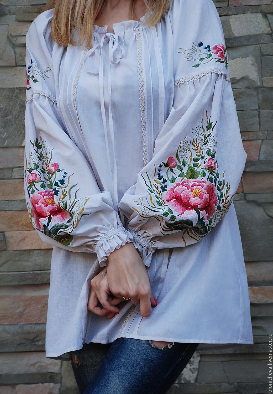 Вышивка на блузках 451