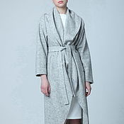 Одежда handmade. Livemaster - original item Coat gray jacket with tails wool of loden clothes for spring. Handmade.