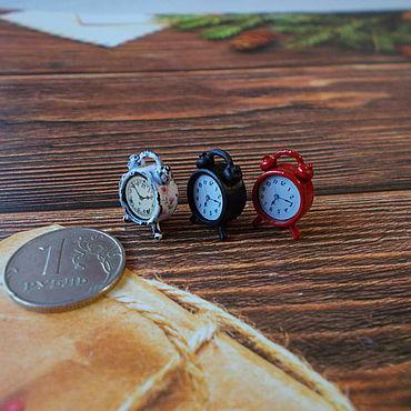 Куклы и игрушки ручной работы. Ярмарка Мастеров - ручная работа Кукольная миниатюра, часы-будильник 1:12.. Handmade.
