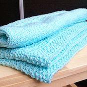 """Для дома и интерьера ручной работы. Ярмарка Мастеров - ручная работа """"Голубые сны"""" нежный и теплый плед для малыша. Handmade."""