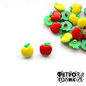 """Войлок ручной работы. Ярмарка Мастеров - ручная работа Пластиковая пуговица """"Яблоко"""" (1шт,цвета в ассортименте). Handmade."""