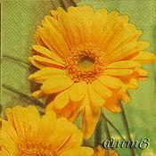 Материалы для творчества handmade. Livemaster - original item 9pcs napkin for decoupage flowers calendula Daisy print. Handmade.