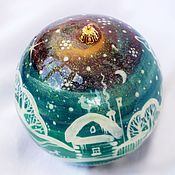 Подарки к праздникам handmade. Livemaster - original item Christmas ball-a stash of wood 9cm.