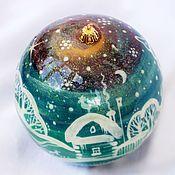 Подарки к праздникам handmade. Livemaster - original item Christmas ball-a stash of wood 9cm.