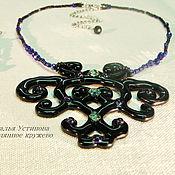 Украшения handmade. Livemaster - original item Pendant glass Black lace, glass fusing. Handmade.