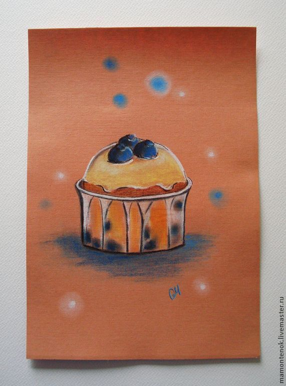 Painting with pastels 'Blueberry', Pictures, Moscow,  Фото №1