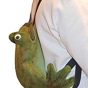 Работы для детей, handmade. Livemaster - original item Bags for children: Backpacks: Children`s backpack Frog-traveler. Handmade.