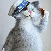 Куклы и игрушки handmade. Livemaster - original item bored on the sea knitted cat. Handmade.