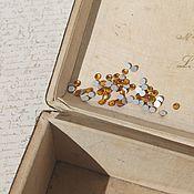 Кабошоны ручной работы. Ярмарка Мастеров - ручная работа Мини-кабошоны кристаллы 4мм. цвет желтый топаз. Handmade.