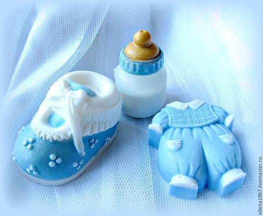 Мыло ручной работы. Ярмарка Мастеров - ручная работа. Купить Мыло Набор с новорожденным мальчиком. Handmade. Голубой, мыло в подарок