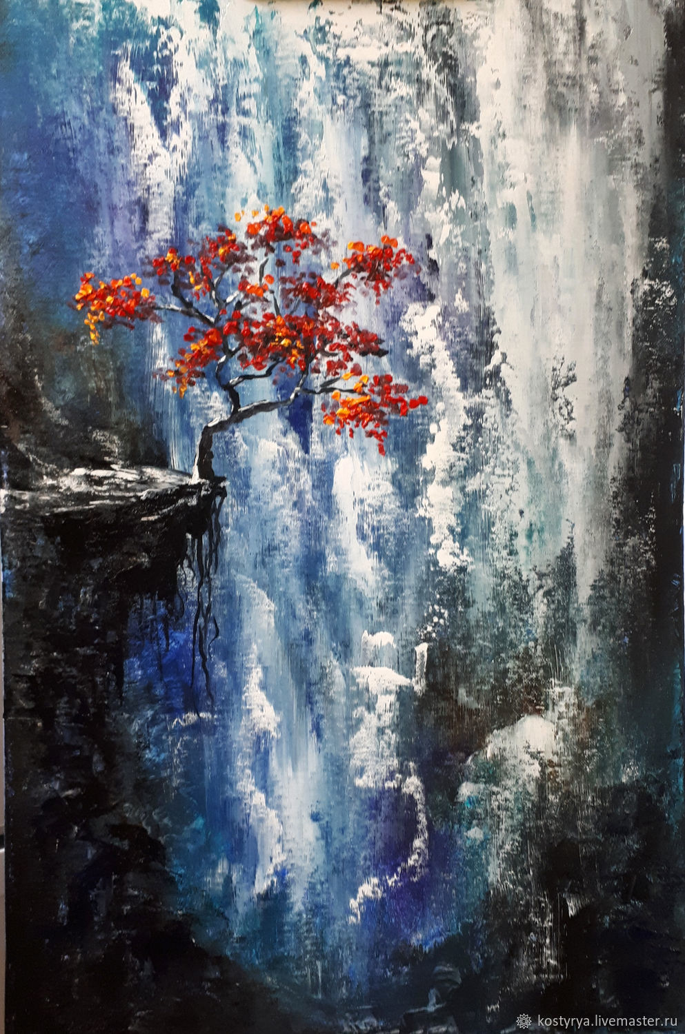 Oil Painting Quot Waterfall Quot Shop Online On Livemaster With