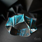 """Украшения ручной работы. Ярмарка Мастеров - ручная работа Медный браслет """"Оригами"""", патинированная медь, украшение. Handmade."""