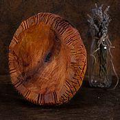 Банки ручной работы. Ярмарка Мастеров - ручная работа Тарелка из черной ольхи. Handmade.