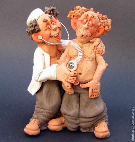 Портретные куклы ручной работы. Ярмарка Мастеров - ручная работа. Купить Терапевт. Handmade. Комбинированный, глина