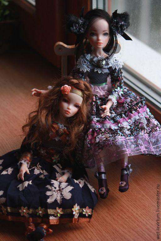 Коллекционные куклы ручной работы. Ярмарка Мастеров - ручная работа. Купить Тельма и Тереза. Handmade. Тёмно-синий, подарок