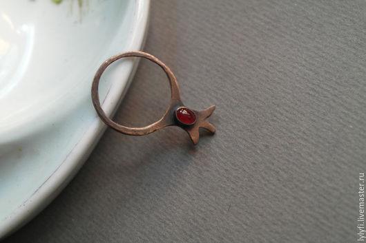 """Кольца ручной работы. Ярмарка Мастеров - ручная работа. Купить кольцо """"Гранатовое зёрнышко"""". Handmade. Бордовый, гранат"""