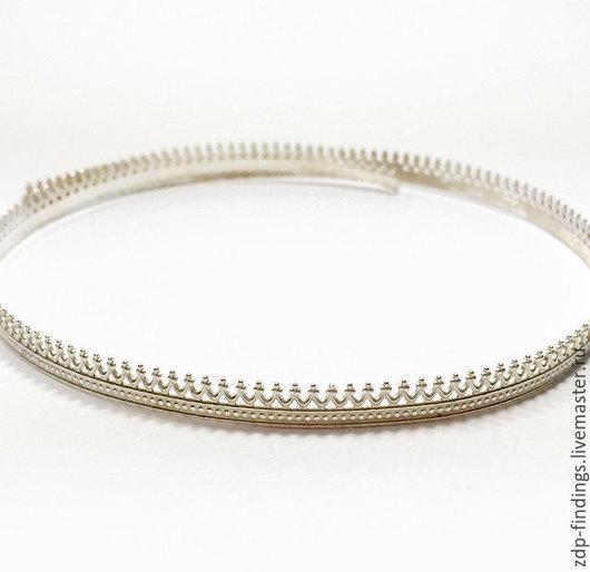 Для украшений ручной работы. Ярмарка Мастеров - ручная работа. Купить 30см Серебряная фигурная зубчатая лента 5.2мм C000166. Handmade.