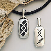 Фен-шуй и эзотерика handmade. Livemaster - original item Inguz Rune Amulet-Development and Growth, silver pendant handmade. Handmade.