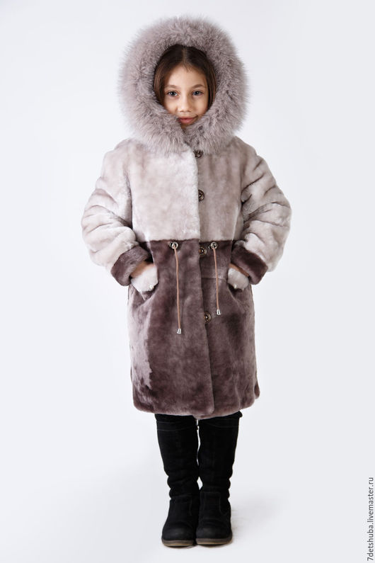 Одежда для девочек, ручной работы. Ярмарка Мастеров - ручная работа. Купить Шуба для ребенка из натурального меха. Handmade. Бежевый, шуба