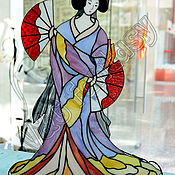 "Для дома и интерьера handmade. Livemaster - original item Stained glass table lamp, interior lamp ""Geisha"". Handmade."