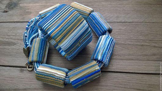 Комплекты украшений ручной работы. Ярмарка Мастеров - ручная работа. Купить Браслет и колье из полимерной глины под джинсы. Handmade.