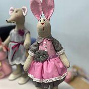 Мягкие игрушки ручной работы. Ярмарка Мастеров - ручная работа Текстильные зайки, зайцы, свадебные зайцы, игрушка заяц. Handmade.
