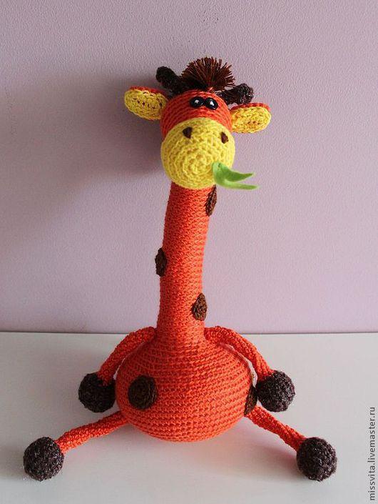 Игрушки животные, ручной работы. Ярмарка Мастеров - ручная работа. Купить Жираф. Handmade. Рыжий, игрушка ручной работы