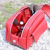 handmade. Livemaster - original item Women`s toiletry bag (cosmetic bag) made of genuine leather. Handmade.