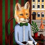 """Картины и панно ручной работы. Ярмарка Мастеров - ручная работа """"Застенчивый мистер Лис"""". Handmade."""