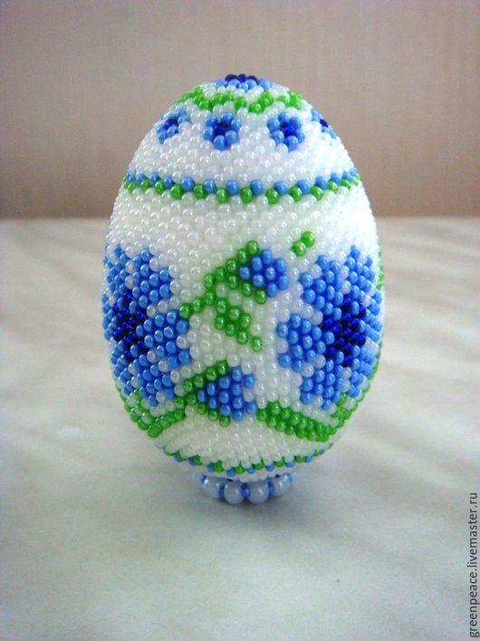 Подарки на Пасху ручной работы. Ярмарка Мастеров - ручная работа. Купить яйцо оплетенное бисером. Handmade. Яйцо, яйцо пасхальное