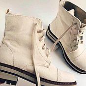 Ботинки ручной работы. Ярмарка Мастеров - ручная работа Ботинки кожаные ручной работы 001. Handmade.