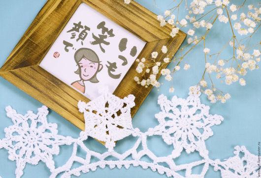 """Воротнички ручной работы. Ярмарка Мастеров - ручная работа. Купить Кружевной воротник """"Снежинки"""". Handmade. Белый, воротник, вязаный воротник"""