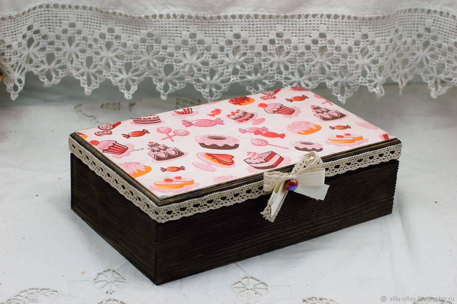 Box of Sweets decoupage array of conifers, Box, Moscow,  Фото №1
