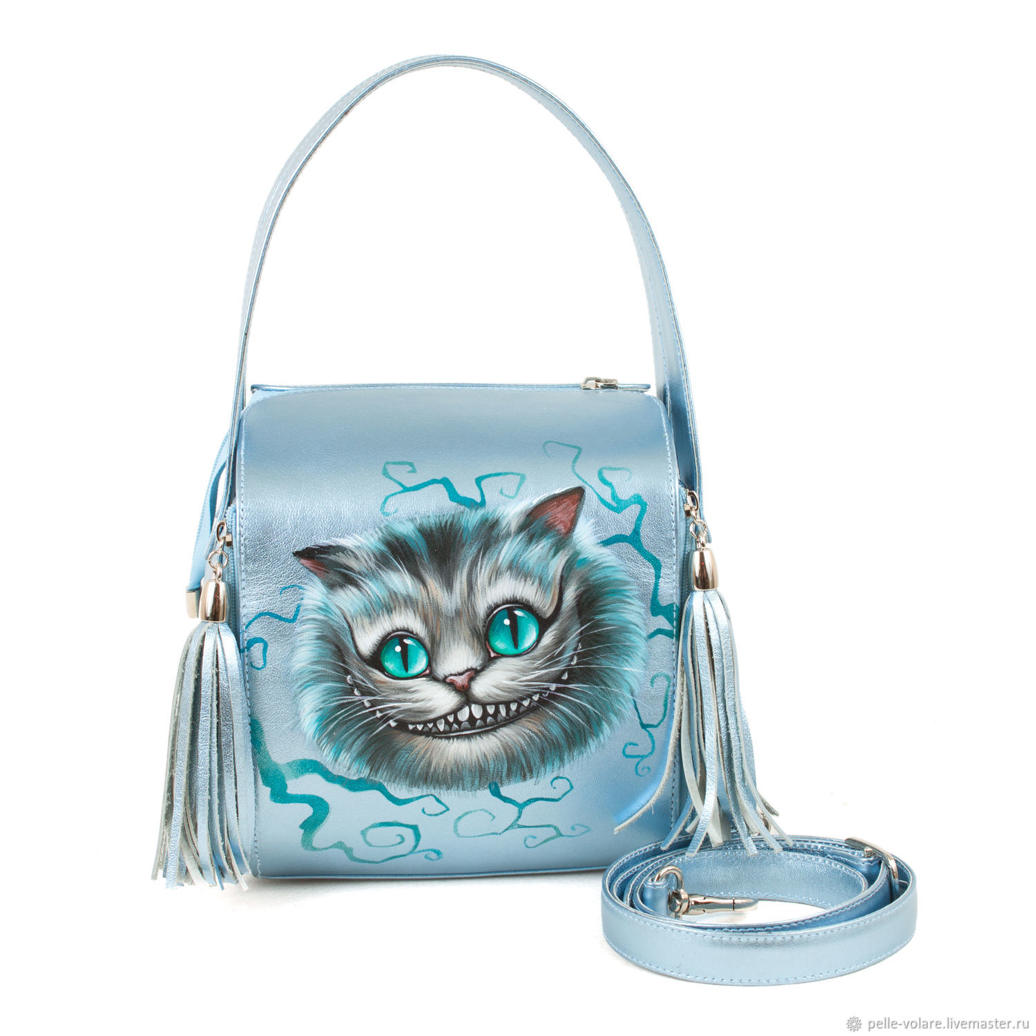 Leather bag square 'Cheshire', Classic Bag, St. Petersburg,  Фото №1