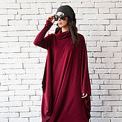 Одежда handmade. Livemaster - original item Burgundy Oversize Dress. Handmade.