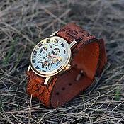 Украшения ручной работы. Ярмарка Мастеров - ручная работа Часы наручные Map Belts, наручные часы на кожаном браслете. Handmade.