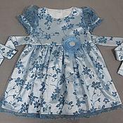 Работы для детей, ручной работы. Ярмарка Мастеров - ручная работа Платье для девочки  Зимний цветок нарядное. Handmade.