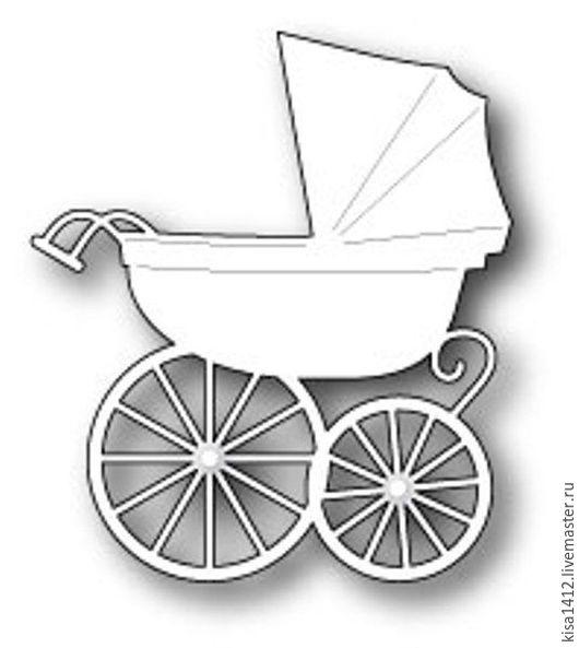 Открытки и скрапбукинг ручной работы. Ярмарка Мастеров - ручная работа. Купить Форма  98528  для Вырубки Baby Carriage. Handmade. Скрапбукинг