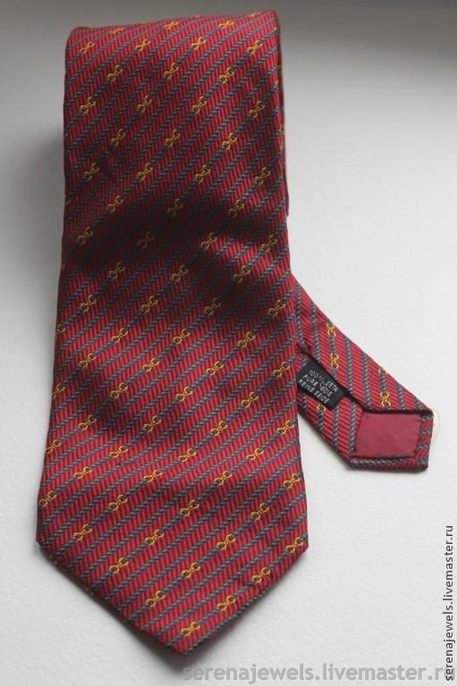 Винтажная одежда и аксессуары. Ярмарка Мастеров - ручная работа. Купить Шелковый галстук №7 Mangini. Handmade. Шелковый галстук