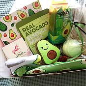 handmade. Livemaster - original item Avocado gift box, a gift for a girl on her birthday. Handmade.