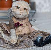 Куклы и игрушки ручной работы. Ярмарка Мастеров - ручная работа Кошка тедди Сату. Handmade.