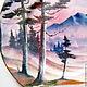 Декоративная посуда ручной работы. Тарелка декоративная Сиреневый лес. Оза (decor33). Ярмарка Мастеров. Украшение интерьера, замедлитель акрила